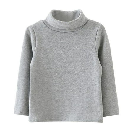 Kids Baby Girls Long Sleeve Cotton Turtleneck Sweater Blouse Pullover Tops ()