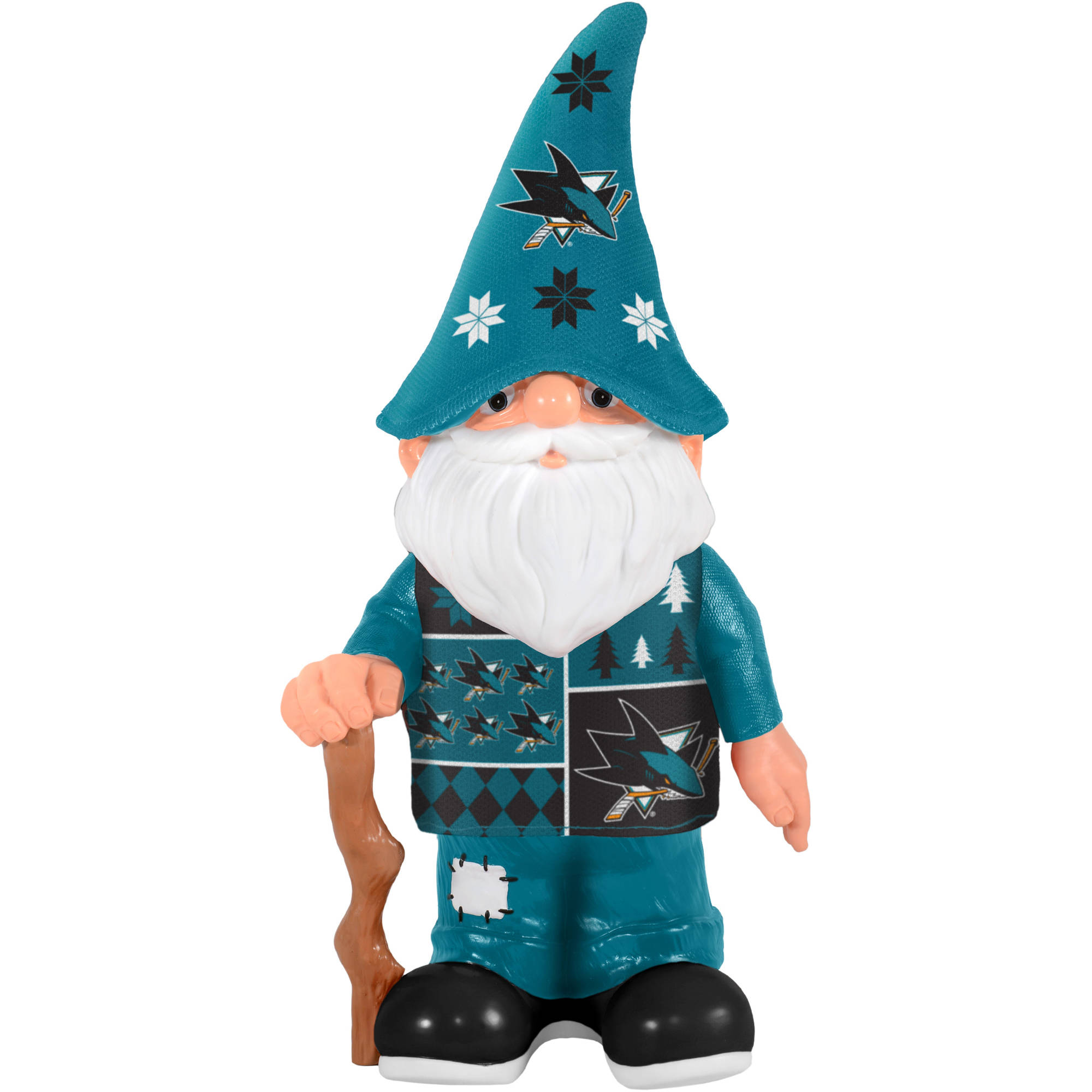 Forever Collectibles NHL Real Ugly Sweater Gnome, San Jose Sharks