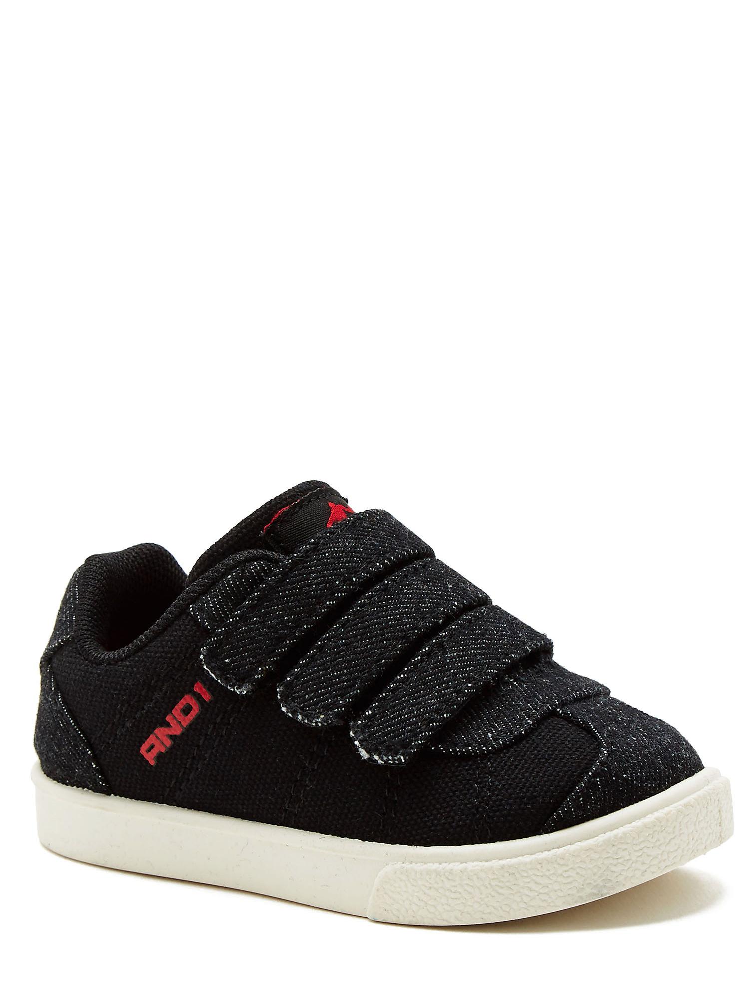 And1 Casual Triple Strap Little Boys Raven Sneaker