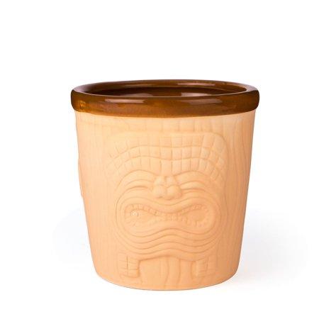 Three Face Mai Tai Ceramic Bucket Style Tiki Mug - 18 oz](Face Mug)
