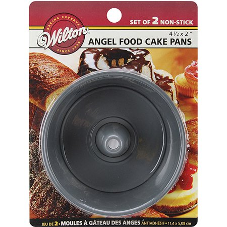 Wilton 4 5 Quot X2 Quot Mini Angel Food Cake Pans Round 2 Ct 2105