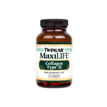 Twinlab MaxiLife Collagen Type II with Hyaluronic Acid Capsules, 60 (Twinlab Biotin 100 Capsules)