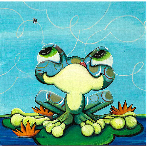 "Trademark Fine Art ""Frog's Lunch"" Canvas Art by Sylvia Masek"