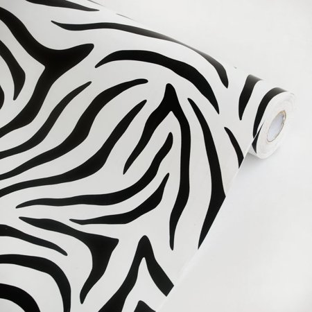 Animal Zebra - Vinyl Self-Adhesive Wallpaper Prepasted Wall Decor (Roll)