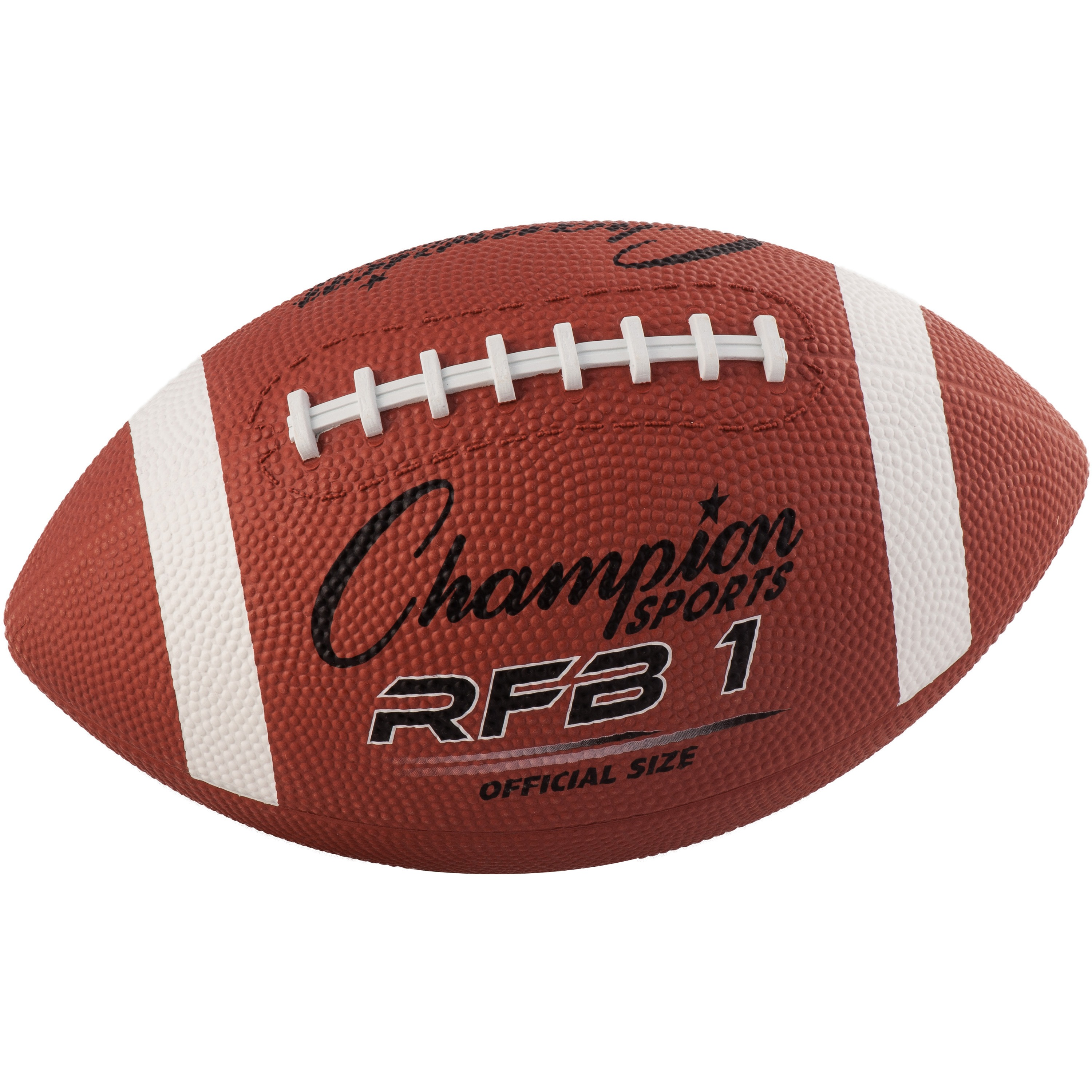 Champion Sport s Official Size Rubber Football, Brown, 1 Each (Quantity) by CHAMPION SPORT