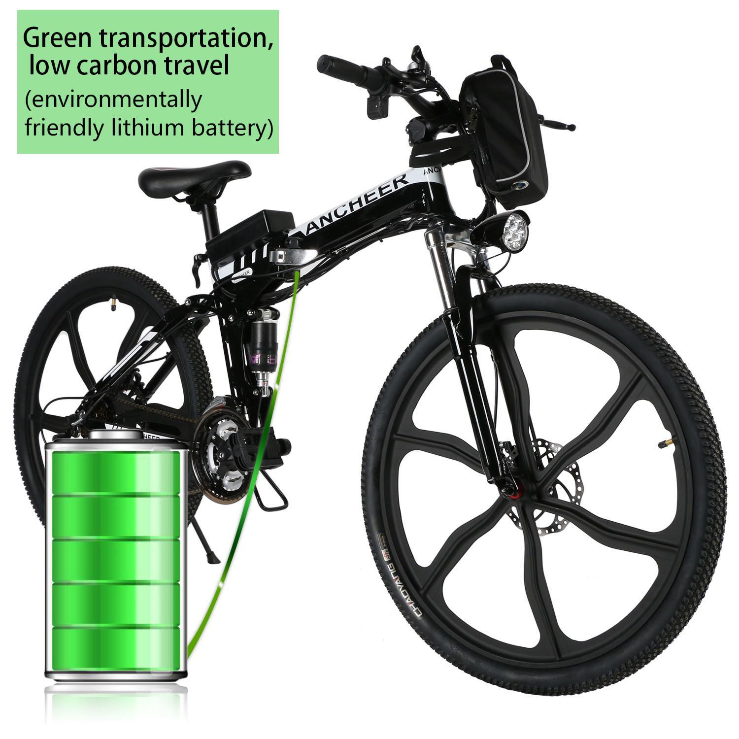 "Lowest Price Clearance Sale!!! Ancheer 30km/h 26"" Folding Electric Mountain Bike,27 speed 36V Electric bike w/Lithium Battery WSY"