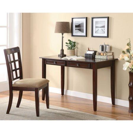 Coaster Furniture Writing Desk and Slat Back Chair Set