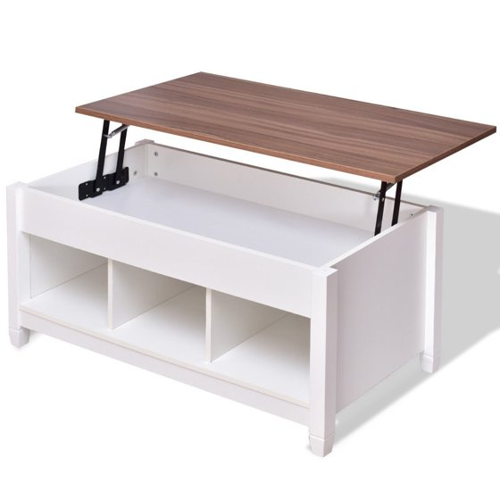 White Lift Top Coffee Tables: Lift Top Coffee Table With Hidden Storage Compartment