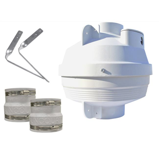 Suncourt RDN04-3 4 in. to 3 in. Radon Mitigation Fan Kit