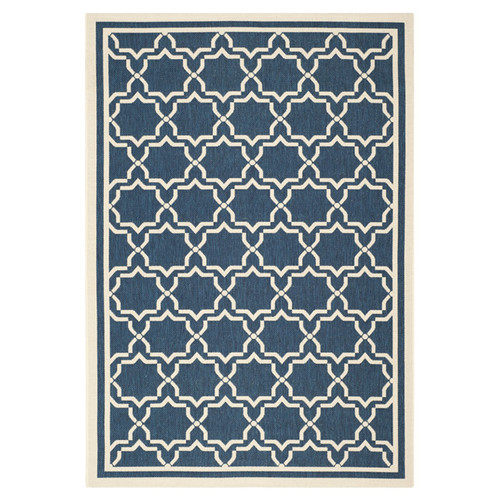Safavieh Courtyard Justina Navy & Beige Indoor/Outdoor Area Rug