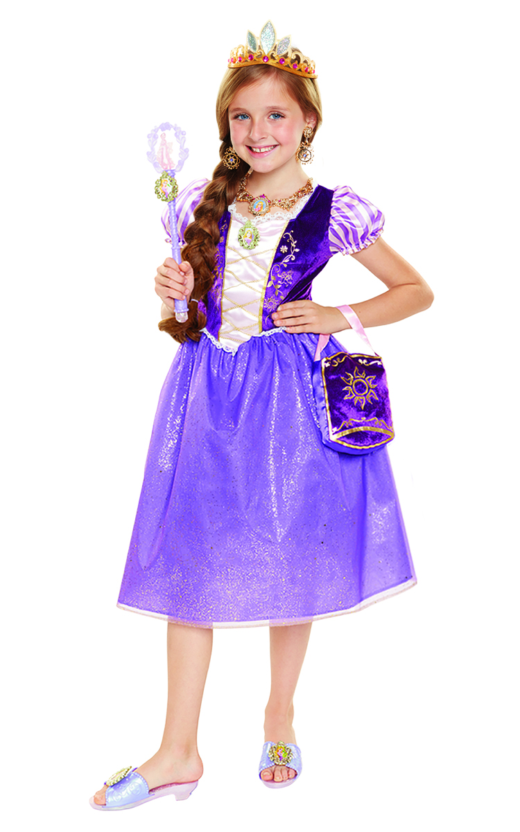 Birthday Party Disney Rapunzel Deluxe Dress Costume Set for Kids Accessories