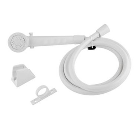 dura faucet dfsa130wt shower head hose white. Black Bedroom Furniture Sets. Home Design Ideas