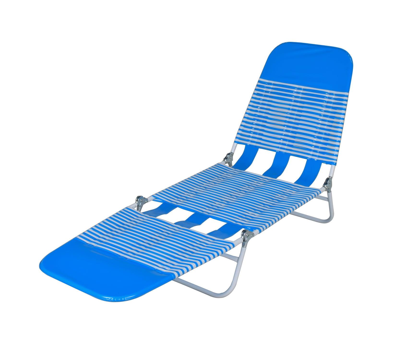 Mainstays Folding Jelly Beach Lounge Blue Walmart Com