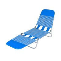 Mainstays Folding Jelly Beach Lounge-blue