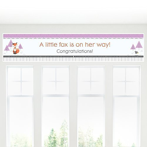 Miss Foxy Fox - Girl Baby Shower Decorations Party Banner