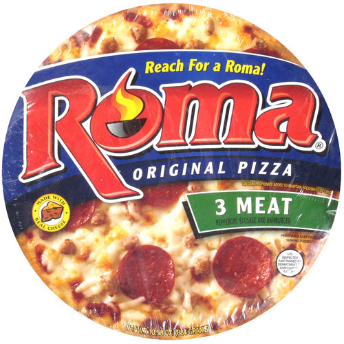 Roma 3 Meat Pizza, 13 oz