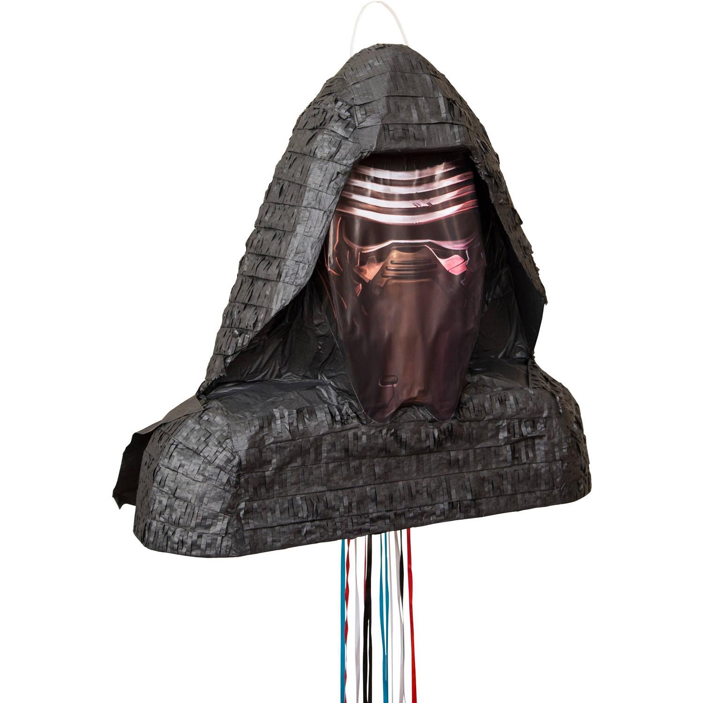 Kylo Ren Star Wars Pinata, Pull String, 17 x 16, 1ct