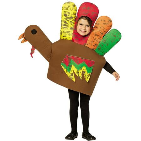 Hand Turkey Child Halloween Costume, One Size, (4-6x) - Hand Costumes