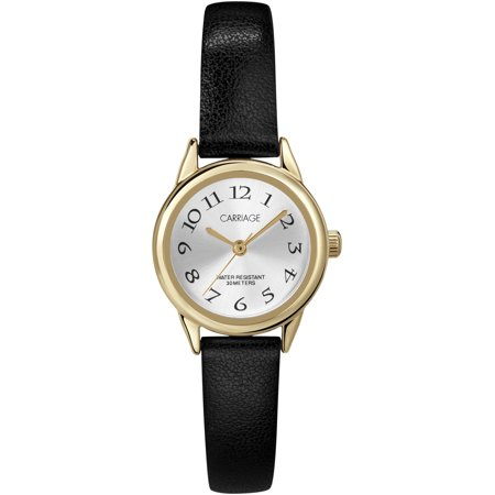 Carriage by Timex Women's Cate Black Strap Watch ()
