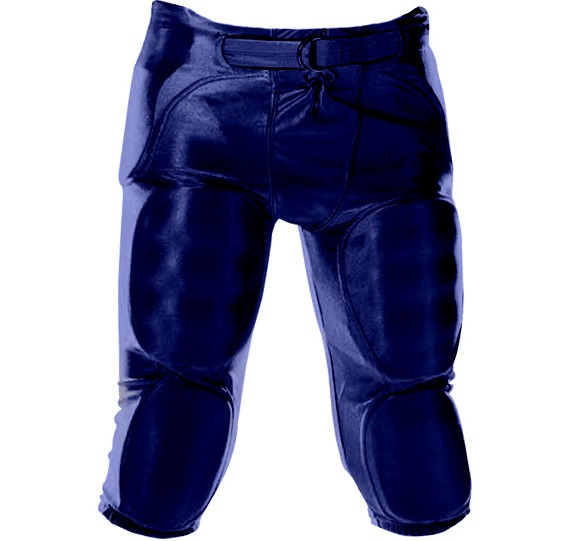 Youth Dazzle Football Pants w  Pads-Color:Navy,Size:LRG by Alleson Athletic