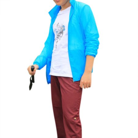 bad14ee87393 Mens Womens Waterproof Windproof Jacket Lightweight Rain Coat Hoodie  Outwear Zip Up Long Sleeve Plus Size Tops - Walmart.com