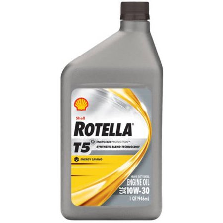 Rotella T5 Synthetic Blend 10w 30 Motor Oil 1 Qt