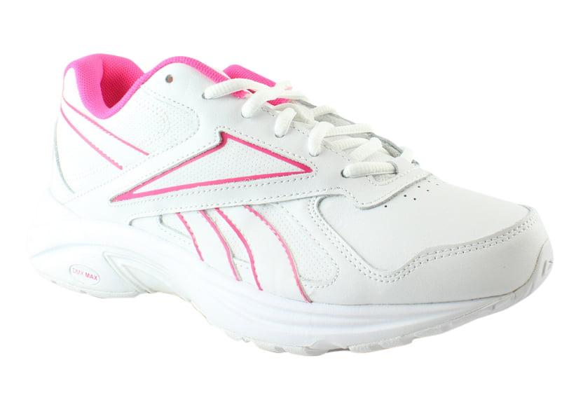 New Reebok Womens Ultra V Dmx Max Pr-White SolarPink Walking Shoes Size 7.5 by Reebok