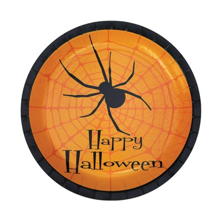 Happy Halloween Plates 8 Pack of 7