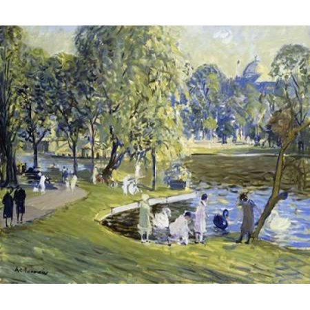 - Public Garden Boston Poster Print by  Arthur Clifton Goodwin