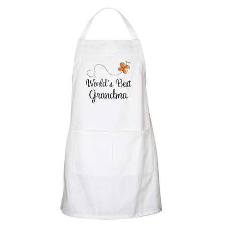CafePress - Worlds Best Grandma Apron For The Grandmother - Kitchen Apron with Pockets, Grilling Apron, Baking