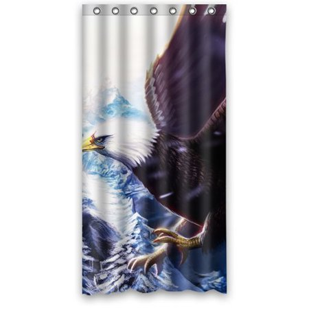 XDDJA Bald Eagle Scene Shower Curtain Waterproof Polyester Fabric Shower Curtain Size 36x72 inches - image 1 de 1