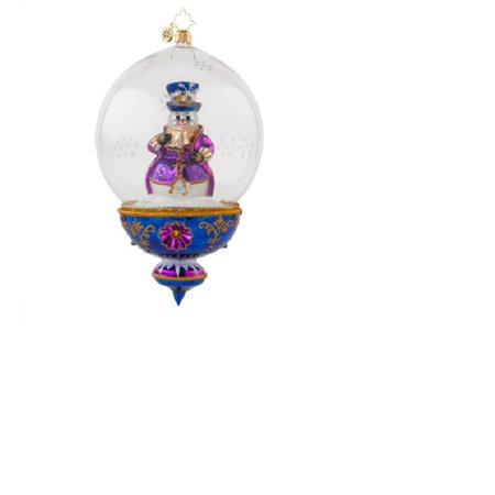 Christopher Radko Glass Plum Frosty Snowman Christmas Ornament #1017624