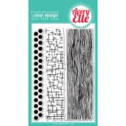 Avery Elle  Clear Stamp Set 4inX6in-Woodgrain & More
