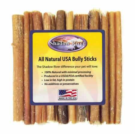10 Pack 6 Inch Regular Bully Sticks by Shadow River - Product of the USA