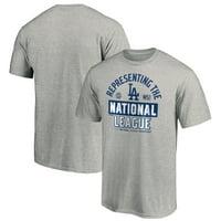 Los Angeles Dodgers Fanatics Branded 2020 National League Champions Locker Room T-Shirt - Gray