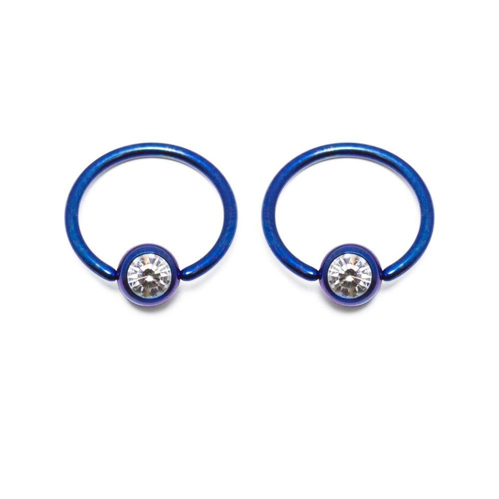 Anodized Titanium 16G Captive Bead Ring Sold in pairs