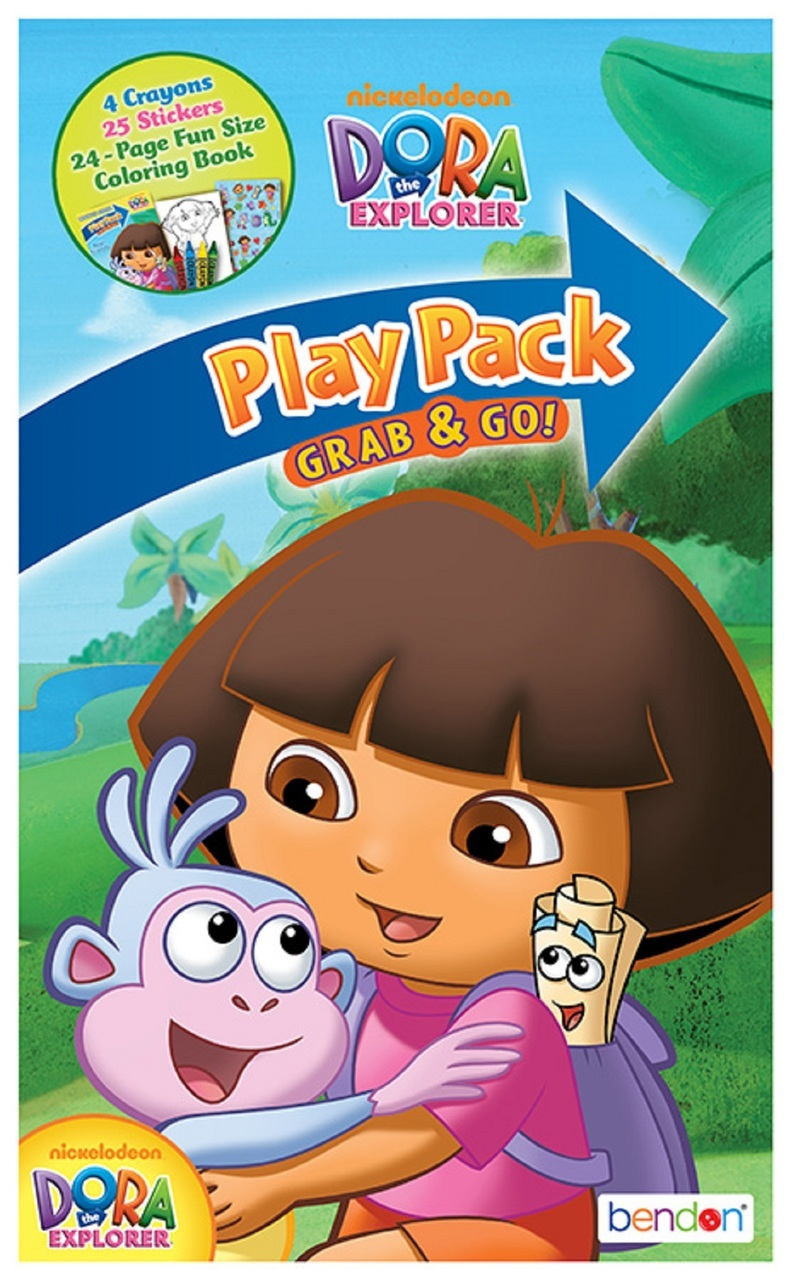12X Dora the Explorer Grab and Go Play Pack Party Favors (12 Packs) by Bendon Publishing