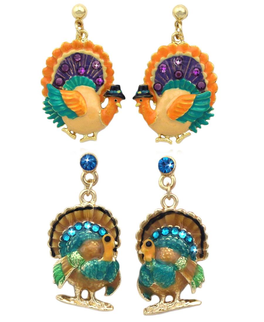 Earrings,Necklace,Key Chain,Bracelet Thanksgiving Bottle Cap Jewelry