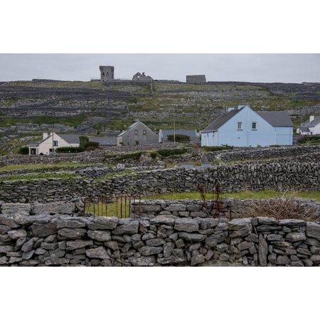 Framed Art for Your Wall Inisheer Aran Islands Village Ireland Stone Fence  10x13 Frame