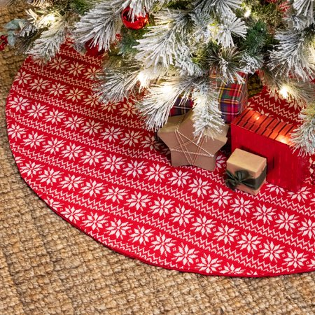 "Belham Living Fair Isle Knit Christmas Tree Skirt, 48"" diameter"