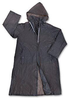 Men's Vinyl Raincoat with Hood, Smoke by Stansport