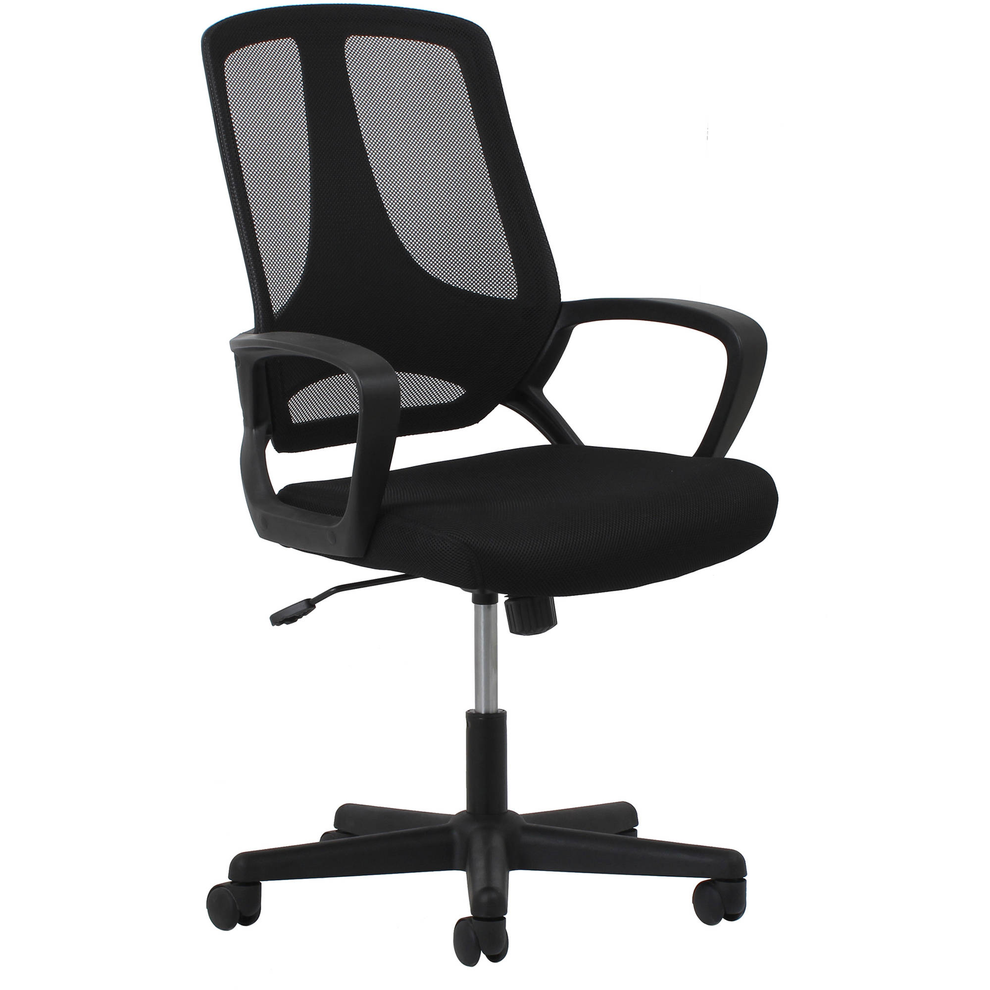 Essentials by OFM Swivel Mesh Task Chair with Arms, Black