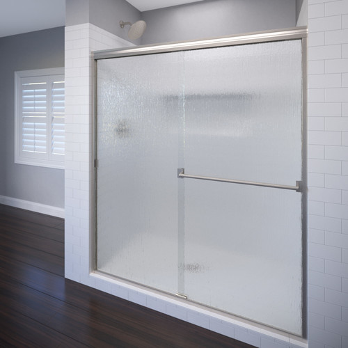 Basco Classic 44'' x 65.5'' Bypass Semi-Frameless Shower Door