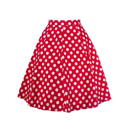 Women's Clothing Skirts Cocktail Skirt Vintage Retro Buttons Swing Party Womens High Waist With Belt