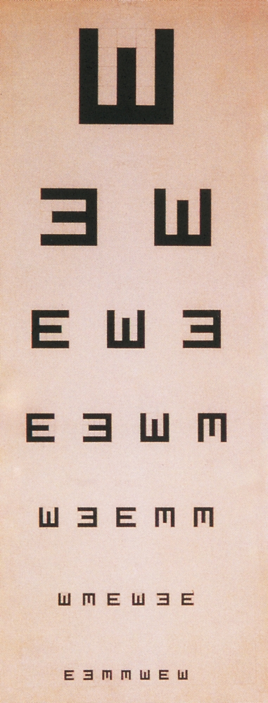 photo about Eye Chart Printable named Tumbling E Eye Chart Poster Print through Science Useful resource