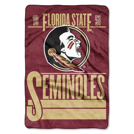 "NCAA Florida State Seminoles Faculty Oversized Micro Raschel 62"" x 90"" Throw Blanket, 1 Each"
