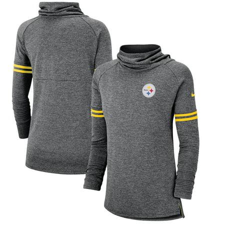 brand new 9af67 bc6ac Pittsburgh Steelers Nike Women's Funnel Raglan Performance Pullover  Sweatshirt - Black - Walmart.com