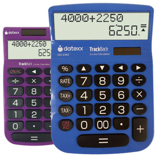 Datexx Combo Pack: DD-2362 Large Desktop Calculator and DH-2202 TrackBack Handheld Calculator