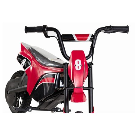 "T4B CLIO Kids Starter Mini Dirt Bike, 250W Brushless Electric Motor, Off-Road Scooter, 24V7.5Ah Motocross Small 12.5"" Wheel for Kids 5-yo and above - Red - image 5 de 7"