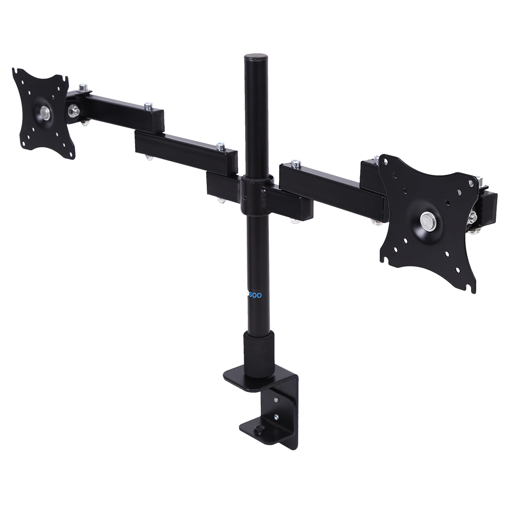 """Dual LCD Screen Bracket,LCD Monitor Desk Mount Stand Fully Adjustable Screen up to 27"""" for Computers"""